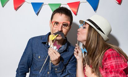 image for Two-, Three-, or Four-Hour Photo Booth <strong>Rental</strong> from Flash <strong>Events</strong> Co (Up to 74% Off)