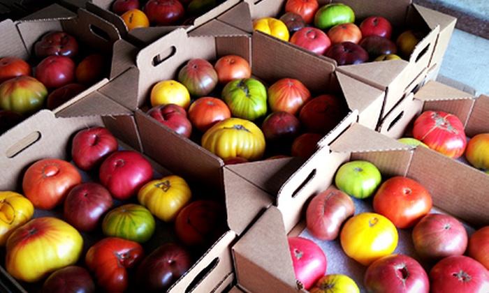 Bella Organic Farm - Sauvie Island: $20 for a 10-Pound Box of Heirloom Tomatoes at Bella Organic Farm ($40 Value)