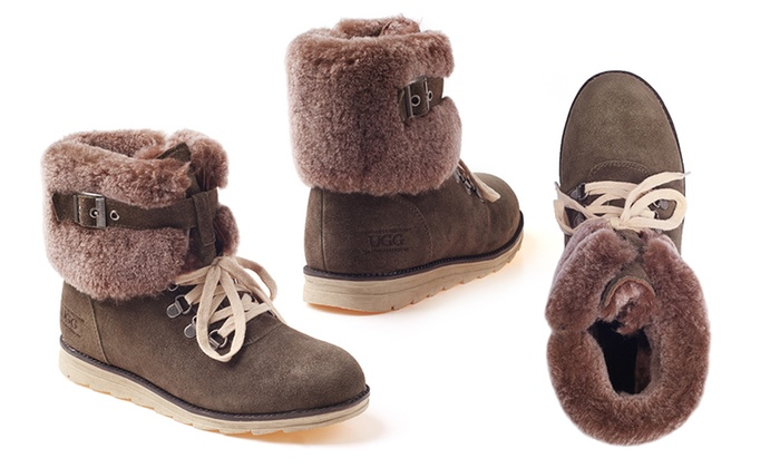 8a693842067 Ozwear Lace Up Buckle UGG Boots | Groupon Goods