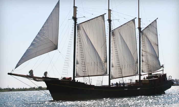 """Great Lakes Schooner Company - Downtown Toronto: $12 for a Two-Hour Sail on the Tall Ship """"Kajama"""" from Great Lakes Schooner Company (Up to $24.80 Value)"""