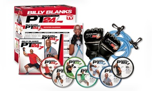 Billy Blanks PT 24/7 7-DVD Set with B2 Bands and Gloves