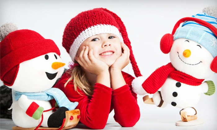 "Studio Art Maria - Centrepointe: One-Hour Holiday Photo Session for Up to 4 or 10 Subjects with One 8""x10"" Print at Studio Art Maria (Up to 80% Off)"