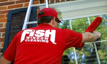 $75 for Window Cleaning, Gutter Cleaning, and Related Services from Fish Window Cleaning ($150 Value)