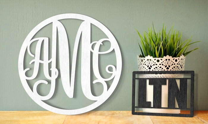 "WallLetters.com: 8"", 12"", 16"", or 20"" Wood Wall Monogram from WallLetters.com (65% Off)"