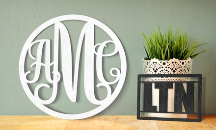 8, 12, 16, or 20 Wood Wall Monogram from WallLetters.com (Half Off)
