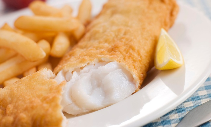 Amaral's Fish & Chips - Warren: Dine-In or Take-Out Seafood and Sandwiches for Two at Amaral's Fish & Chips (Up to 44% Off)