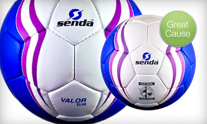 Senda Athletics: Soccer Balls Handmade by Fair-Trade Workers from Sendra Athletics (Up to $25.94 Off). Four Options Available.