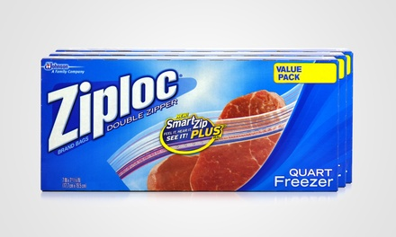 3 of Ziploc Freezer Bags