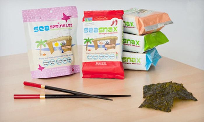 SeaSnax All-Natural Seaweed Snacks: Regular or Supersized SeaSnax Gluten-Free Vegan Seaweed-Snack Bundle (Up to 53% Off)