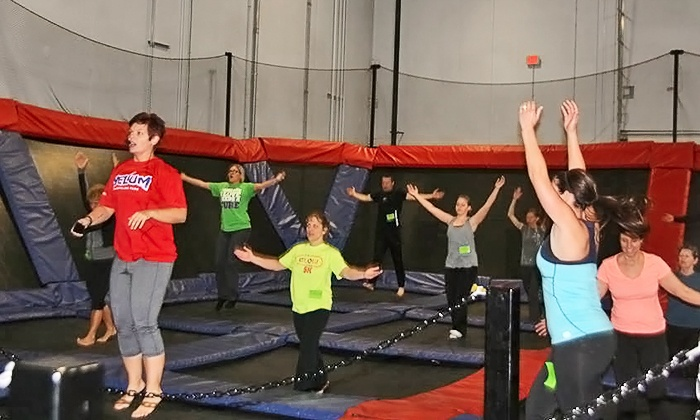 Helium Trampoline Park - New Berlin: Two Weeks or One Month of AIRobics Classes at Helium Trampoline Park (Up to 53% Off)