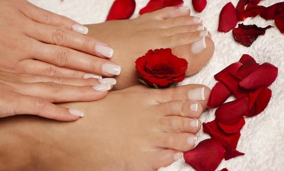 image for Up to 61% Off <strong>Mani</strong>-Pedi with Paraffin Wax Treatment at Color & Shapes Day Spa