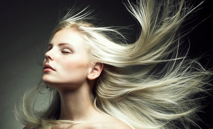 Haircut, Wash, and Blow-Dry with Optional Color or Partial Highlights at Trimarchi Hair Studio (Up to 76% Off)