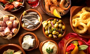 La Rambla: Five or Ten Tapas with Wine or Sangria for Two or Four at La Rambla (41% Off)