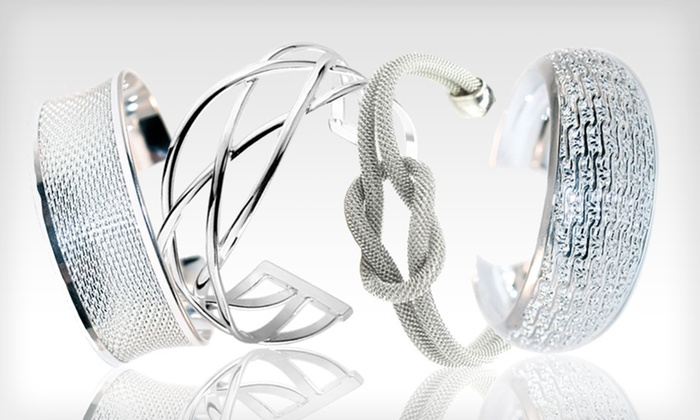 Cate & Chloe Silver Bangle Bracelets: Cate & Chloe Silver Bangle Bracelet (Up to 76% Off). 10 Options Available. Free Shipping and Free Returns.