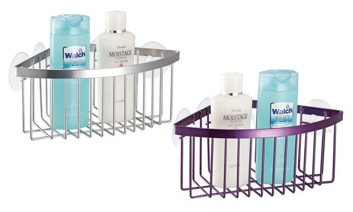 Corner Shower Caddy With Suction Cups ...