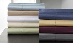 Andiamo 500-thread-count 100% Egyptian Cotton Stripe Sheet Set