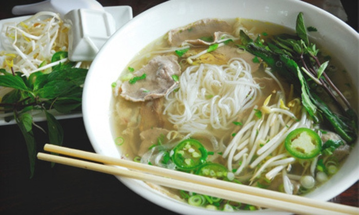 Vnam Restaurant - Eden Prairie: $18 for a Vietnamese Dinner for Two with Entrees and Drinks at Vnam Restaurant in Eden Prairie (Up to $35.88 Value)