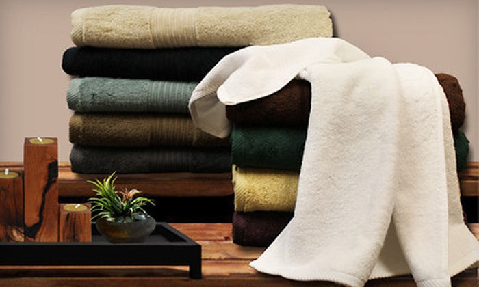 $34 for a Spa Collection Six-Piece Egyptian-Cotton Towel Set ($79 Value). 10 Colors Available. Shipping Included.