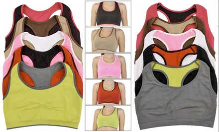 Reversible Seamless Sports Bra 5-Pack
