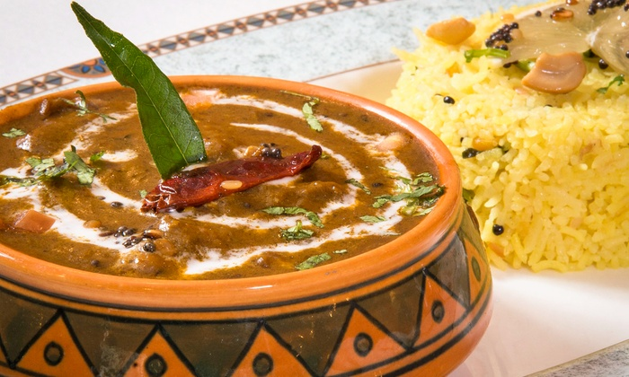Heritage India - Multiple Locations: Indian Dinner with Appetizers and Wine for Two or Four at Heritage India (42% Off). Groupon Reservation Required.