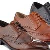 Adolfo Burton Men's Wing-Tip Oxford Dress Shoes