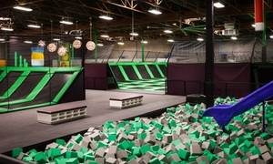 Jump Around Now: Two-Hour Adventure-Park Admission for Two or Four or VIP Booth Family Package at Jump Around Now (Up to 55% Off)