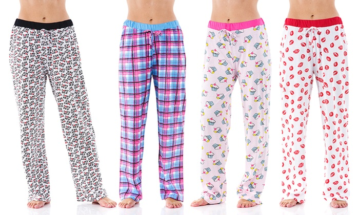 c9335051fbf8 Women s Pajama Pants (4-Pack)