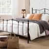 Wendy Antique Dark Bronze Platform Bed