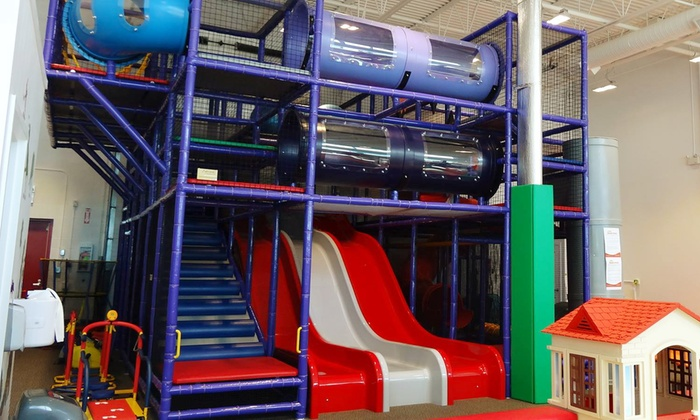 Magic Space - Summerside: Indoor-Playground Admission for Two Kids and Adult, or 10-Class Children's Pass at Magic Space (Up to 44% Off)