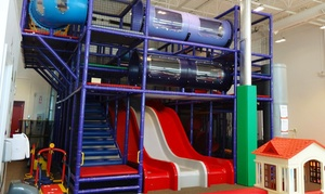 Magic Space: Indoor-Playground Admission for Two Kids and Adult, or 10-Class Children's Pass at Magic Space (Up to 44% Off)