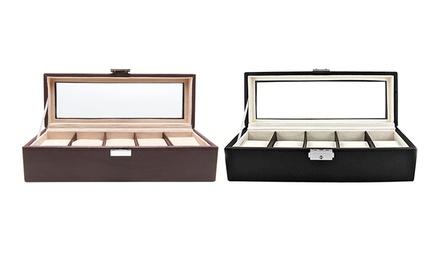 Luxury 5-Watch Storage Case