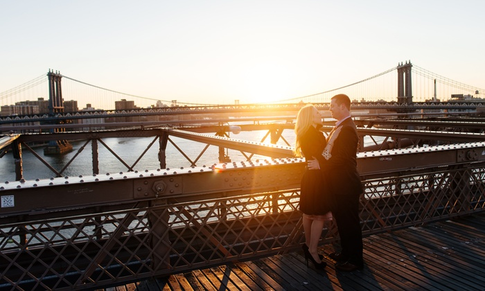 Yong Photo - New York City: 90-Minute Engagement Photo Shoot with Retouched Digital Images from yong.photo (83% Off)