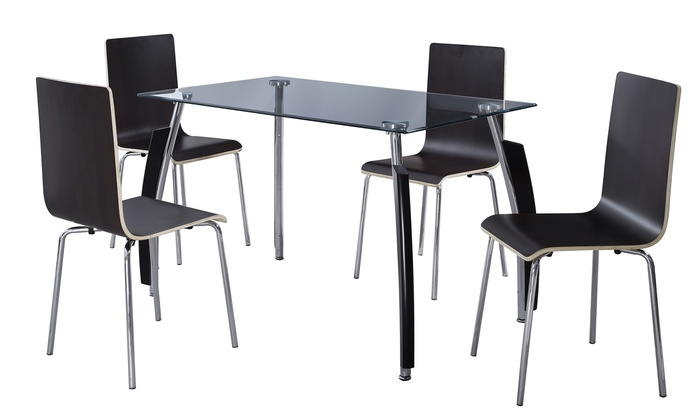 S Uk Smoked Glass And Chrome Dining Tables