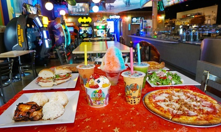 $7 for $12 Worth of Frozen Yogurt, Bubble Tea, Pizza, and Hawaiian Barbecue at Did's Hawaiian Shack and Arcade