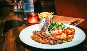 Saint Judes: 8oz Sirloin or Rib-Eye Steak Meal for Two or Four at Saint Judes (Up to 51% Off)