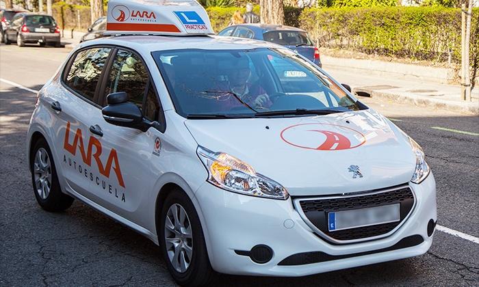 Autoescuela Lara - Varias localizaciones: Curso para obtener el carné de coche con matrícula, material y 12 prácticas para 1 o 2 desde 69 € en Autoescuela Lara
