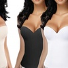 Essentials Regular and Plus Size Seamless Open-Back Shaping Corset