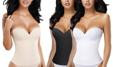 Essentials Seamless Open-Back Shaping Corset in Regular and Plus Sizes from $24.99–$28.99
