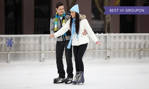 The Gallivan Center: Ice Skating for Two or Four or a Six-Punch Ice-Skating Pass at The Gallivan Center (Up to 54% Off)