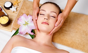 Facelogic Spa: Massage with Optional Facial and Polishing and Exfoliating Scrub at Facelogic Spa in Roswell (Up to 57% Off)