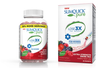 Slimquick Pure Drink Mix or Gummies from $12.99-$19.99