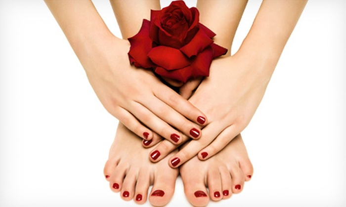 Colors Couture - Edgewood: One or Two Shellac Mani-Pedis at Colors Couture (Half Off)