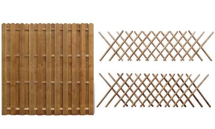 Vida XL Wooden Fence