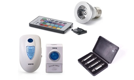 Clearance Deal Including Magic Light, BBQ Branding Set, Screw Extractor Set or Door Bell from AED 39 (Up to 74% Off)