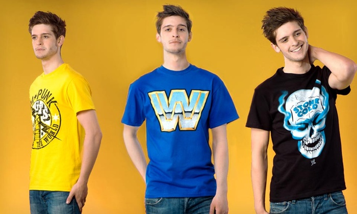 Men's WWE T-shirts: $9.99 for a Men's WWE T-shirts ($25 List Price). Multiple Styles.