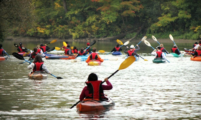 Toronto Adventures - Toronto: Fall Colours Scenic Two- Hour Guided Paddle on Humber River from Toronto Adventures (Half Off). Three Options Available.