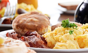 Buckys Lakeside Pub & Grill: Weekend Breakfast for Two or Four at Bucky's Lakeside Pub & Grill (51% Off)