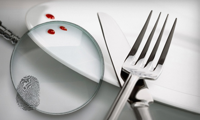 The Dinner Detective-Phoenix - Downtown Mesa: $89 for a Four-Course Murder-Mystery Dinner for Two with Souvenir Mugs from The Dinner Detective–Phoenix ($161.55 Value)