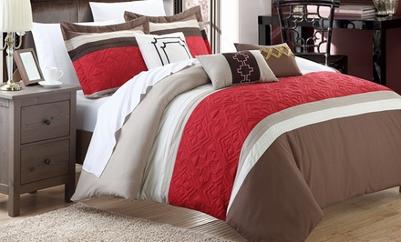 Corrine 6-Piece Embroidered Comforter Set