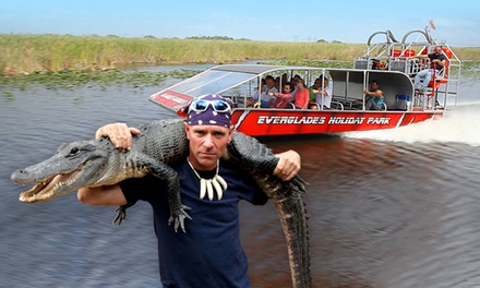 Airboat Tour and Live Alligator Show for One, Two, or Four from Everglades Holiday Park (40% Off)